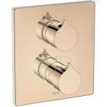 Bateria podtynkowa wannowo-prysznicowa termostatyczna do RocaBox Roca INSIGNIA ROSE GOLD A5A0C3ARG0 różowe złoto