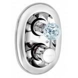Bateria podtynkowa z termostatem Kludi ADLON 5172005G5 kryształ