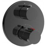 Bateria prysznicowa termostatyczna podtynkowa Roca T-1000 BLACK ROUND A5A2C09CN0