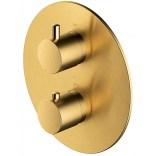 Bateria prysznicowo-wannowa podtynkowa Omnires Y Y1236ROGLB złoto szczotkowane
