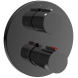 Bateria wannowo-prysznicowa termostatyczna podtynkowa Roca T-1000 BLACK ROUND A5A0C09CN0