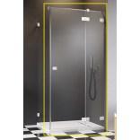 Biała kabina prysznicowa front 80 Radaway ESSENZA PRO WHITE KDJ 10097080-04-01R prawa biała
