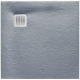 Brodzik kwadratowy 80 cm + syfon Roca TERRAN AP0332032001300 szary cement