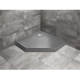 Brodzik pięciokątny 90x90x11,5 Radaway DOROS PT Compact Stone SDRPTP9090-05-64S antracyt