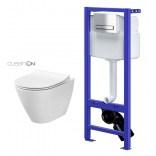 Cersanit CITY OVAL NEW Miska WC bez kołnierza + stelaż podtynkowy HI-TEC S701-152
