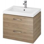 Cersanit LARA Szafka z umywalką 60 cm COMO S801-148-DSM orzech