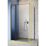 Czarna kabina prysznicowa FRONT 100x200 Radaway NES BLACK KDJ II 10032100-54-01L lewa