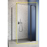 Czarna kabina prysznicowa FRONT 110x200 Radaway NES BLACK KDJ II 10032110-54-01R prawa