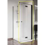 Czarna kabina prysznicowa FRONT 80x200 Radaway NES BLACK KDJ-B 10025080-54-01R prawa
