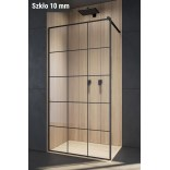 Czarna kabina walk-in 50x200 Radaway MODO X BLACK II 389254-54-55 Factory