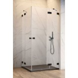 Czarne drzwi prysznicowe 100x200 Radaway ESSENZA PRO BLACK KDD 10096100-54-01L lewe