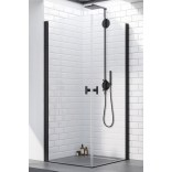 Czarne drzwi prysznicowe 100x200 Radaway NES 8 BLACK KDD I 10071100-54-01R prawe