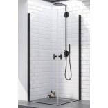 Czarne drzwi prysznicowe 90x200 Radaway NES 8 BLACK KDD I 10071090-54-01L lewe