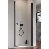 Czarne drzwi wnękowe 100x200 Radaway NES 8 BLACK DWJ I 10076100-54-01R prawe