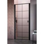 Czarne drzwi wnękowe 100x200 Radaway NES BLACK DWJ I 10026100-54-55L Factory/lewe