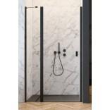 Czarne drzwi wnękowe 100x200 Radaway NES BLACK DWJ II 10036100-54-01L lewe
