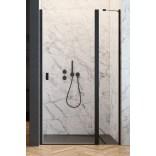 Czarne drzwi wnękowe 110x200 Radaway NES BLACK DWJ II 10036110-54-01R prawe