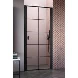 Czarne drzwi wnękowe 90x200 Radaway NES BLACK DWJ I 10026090-54-55R Factory/prawe