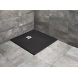 Czarny brodzik kwadratowy 90x90 Radaway KYNTOS C HKC9090-54