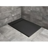 Czarny brodzik prostokątny 140x80 Radaway TEOS F HTF14080-54