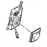 Czujnik ruchu optyczny do elektronicznej baterii umywalkowej Balance Kludi 7301500-00