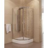 Kabina prysznicowa półokrągła 90x185 cm drzwi przesuwne, szkło perła 6 mm New Trendy PRAKTIC K-0070