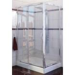 Kabina prysznicowa prostokątna 100x90x190 cm drzwi przesuwne, szkło czyste 6 mm z powłoką Active Shield New Trendy CORRINA K-0161