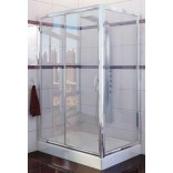 Kabina prysznicowa prostokątna 120x80x190 cm drzwi przesuwne, szkło czyste 6 mm z powłoką Active Shield New Trendy CORRINA K-0162