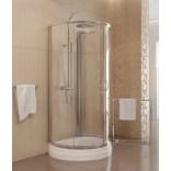 Kabina prysznicowa przyścienna 100x85x185 cm drzwi przesuwne, szkło grafitowe 6 mm New Trendy RONDO K-0036