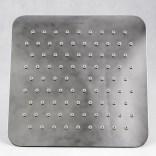 Deszczownica kwadratowa 20 cm ze stali nierdzewnej Omnires ULTRA SLIMLINE WGU220