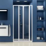 Drzwi prysznicowe 100x185 cm SDZ3 białe+grape Ravak SUPERNOVA 02VA0100ZG