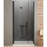 Drzwi prysznicowe 100x195 New Trendy NEW SOLEO BLACK D-0225A lewe