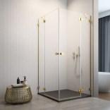 Drzwi prysznicowe 100x200 Radaway ESSENZA PRO GOLD KDD 10096100-09-01L złote/lewe