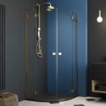 Drzwi prysznicowe 100x200 Radaway ESSENZA PRO GOLD PDD 10095100-09-01L złote/lewe