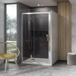 Drzwi prysznicowe 10DP2-120 Ravak 10° 0ZVG0C00Z1 aluminium + transparent