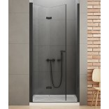 Drzwi prysznicowe 120x195 New Trendy NEW SOLEO BLACK D-0227A lewe