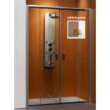 Drzwi prysznicowe 140x190 Radaway PREMIUM PLUS DWD 33353-01-08N brązowa