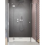 Drzwi prysznicowe 180x185 Radaway TORRENTA DWJS 320812-01-01R + 320443-01-01 prawe
