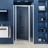 Drzwi prysznicowe 80x185 cm SDOP białe+grape Ravak SUPERNOVA 03V40100ZG