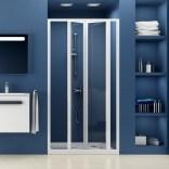 Drzwi prysznicowe 80x185 cm SDZ3 białe+transparent Ravak SUPERNOVA 02V40100Z1