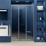 Drzwi prysznicowe 80x185 cm ASDP Ravak SUPERNOVA 00V40102Z1 białe+transparent