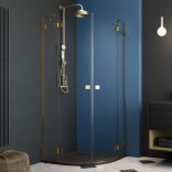 Drzwi prysznicowe 80x200 Radaway ESSENZA PRO GOLD PDD 10095080-09-01R złote/prawe