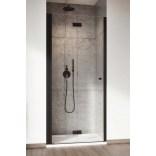 Drzwi prysznicowe 80x200 Radaway NES BLACK DWB 10029080-54-01L czarne/lewe