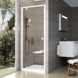 Drzwi prysznicowe 90x190 cm PDOP1 białe+transparent Ravak PIVOT 03G70100Z1
