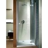 Drzwi prysznicowe 90x195 Radaway ALMATEA DWJ 31002-01-05N grafitowe, lewe