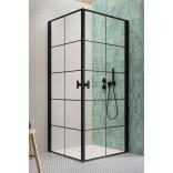 Drzwi prysznicowe 90x200 Radaway NES 8 BLACK KDD I 10071090-54-55L czarne/factory/lewe