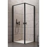 Drzwi prysznicowe 90x200 Radaway NES 8 BLACK KDD I 10071090-54-56L czarne/frame/lewe