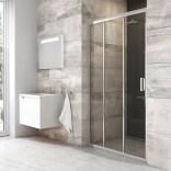 Drzwi prysznicowe BLDP3-100 Ravak BLIX X00HA0C00Z1 aluminium + transparent