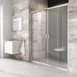 Drzwi prysznicowe BLDP4-140 Ravak BLIX 0YVM0100Z1 białe + transparent