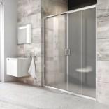 Drzwi prysznicowe BLDP4-140 Ravak BLIX 0YVM0100ZG białe + grape
